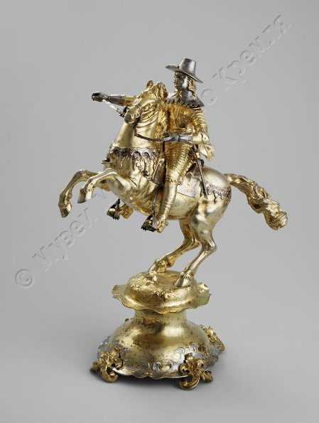 Drinking cup/centrepiece modelled as Charles I Stuart, King of England, 1639-1649, David Schwestermüller, Augsburg, Germany