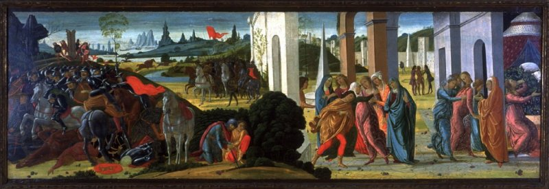 The Legend of Brutus and Portia,cr. 1485, Jacopo del Sellaio