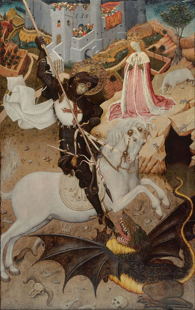 Saint George Killing the Dragon, 1434-5, Bernat Martorell, Barcelona, modern-day Spain
