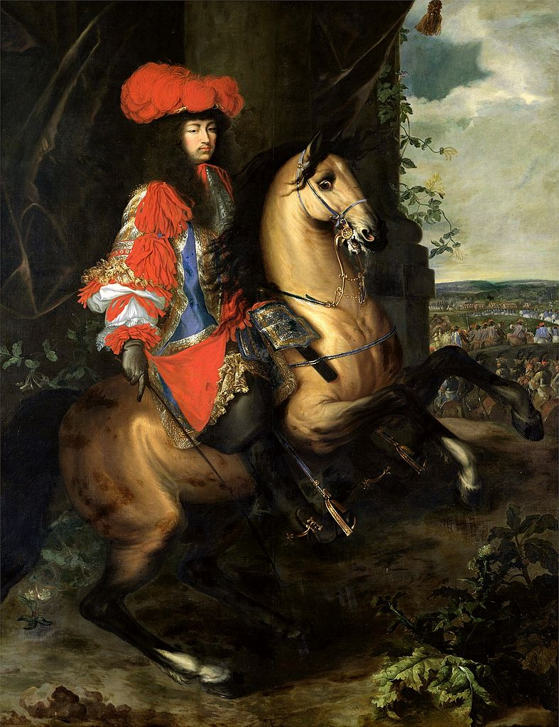 Equestrian portrait of Louis XIV of France, 17th century, Charles Le Brun and Adam Frans van der Meulen