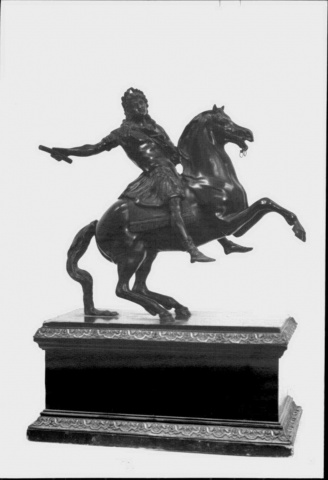 Equestrian statuette of Louis XIV,19 century, probably after Francois Girardon (before 1692), France