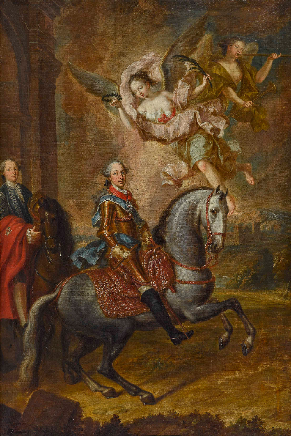 Elector Maximilian III Josef of Bavaria on horseback, 1758, Georges Desmarées, Bavaria, Germany