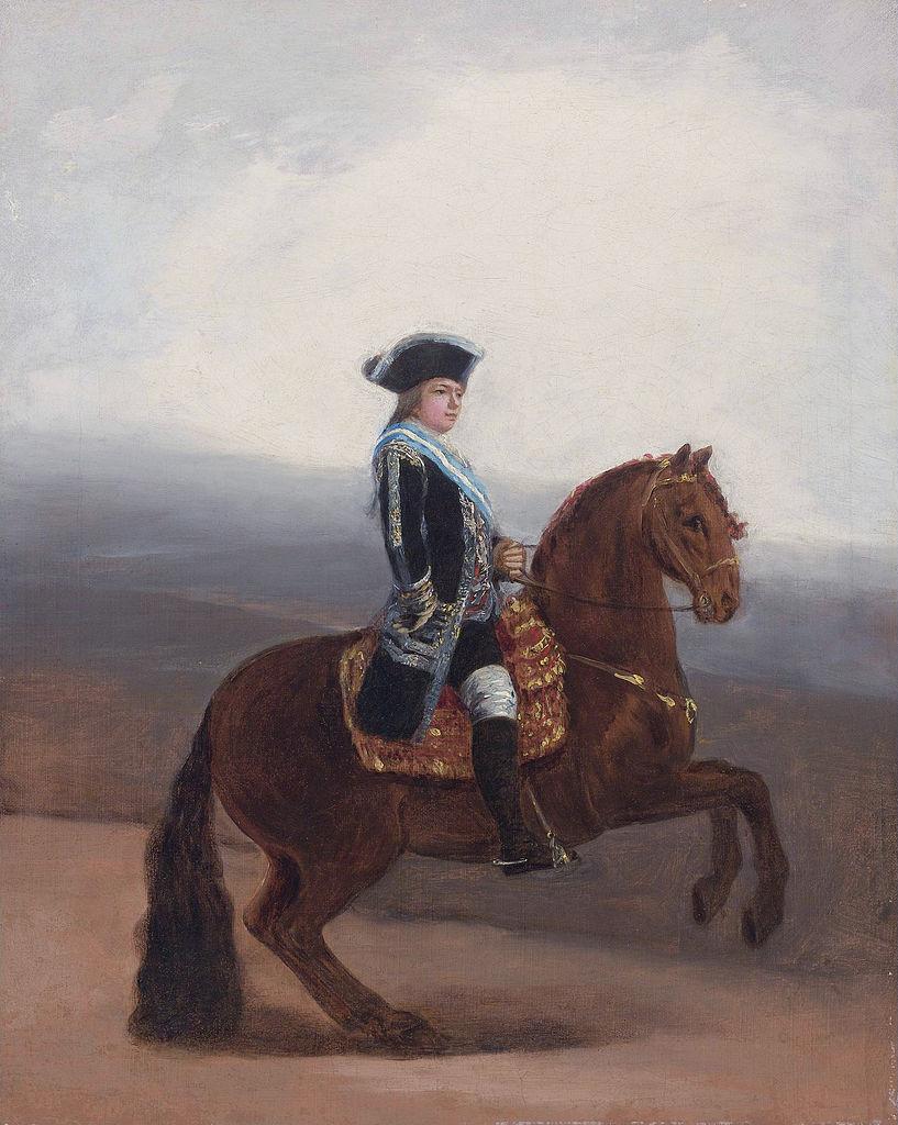 Sketch for the equestrian portrait of Manuel Godoy, Duke of Alcudia, 1794, Francisco Goya