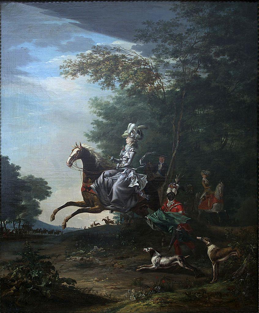 Marie-Antoinette hunting, 1783, Louis-Auguste Brun