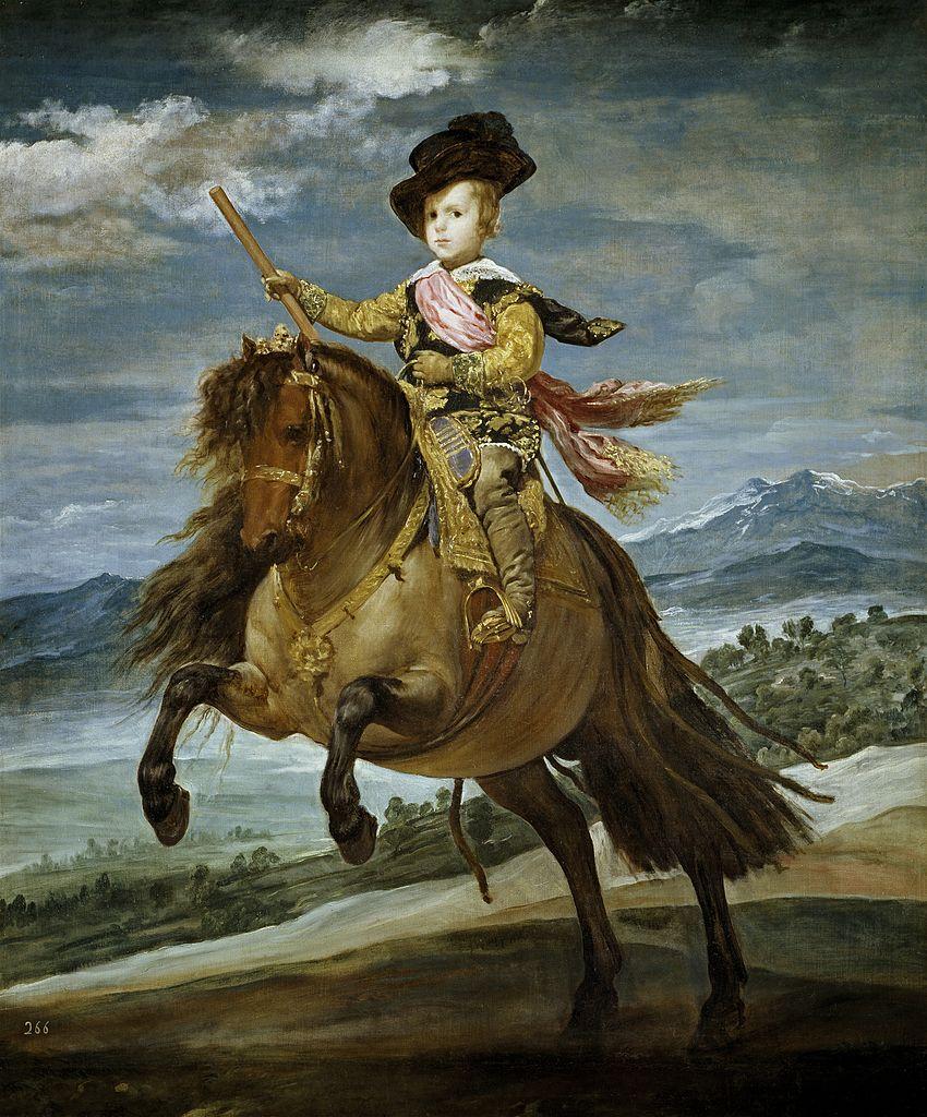 Equestrian Portrait of Prince Balthasar Charles, 1634-5, Diego Velázquez