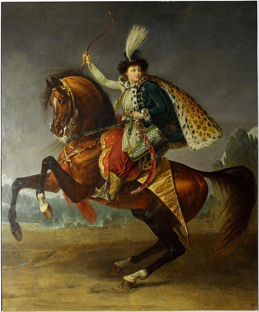 Equestrian portrait of prince Boris Yusupov, 1809, Antoine-Jean Gros