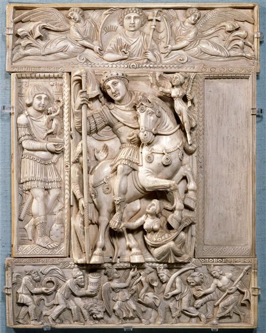 Triumphant emperor (Barberini ivory), cr.500-550