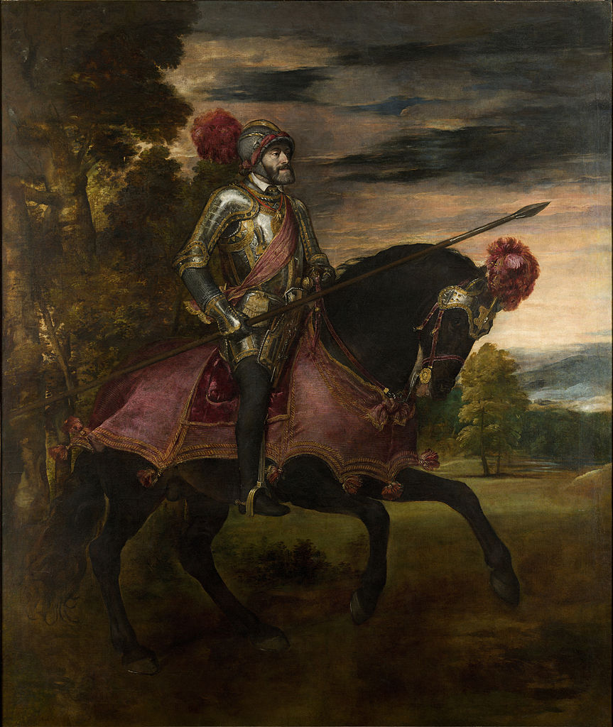 Equestrian Portrait of Charles V at the battle of Mühlberg, 1548, Titian, Augsburg, Germany