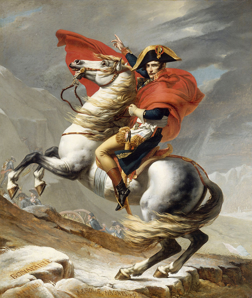 COMPARANDUM: Napoleon Crossing the Alps, 1802, Jacques-Louis David