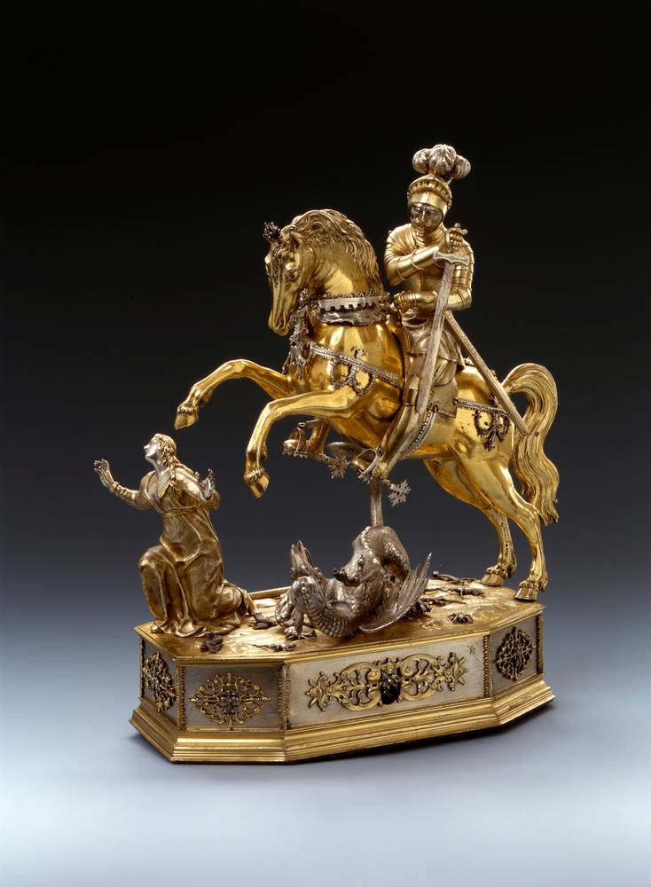 Automation with the figure of Saint George, cr. 1618-1622, Joachim Fries, Augsburg, Germany