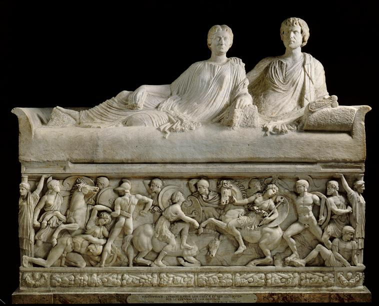 Sarcophagus with an Amazonomachy scene, 2nd century, Thessaloniki