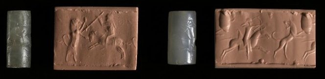Cylinder seals depicting hunting, cr. 750 BC-300 BC