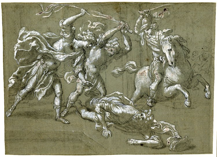 Expulsion of Heliodorus from the Temple, 1607-64, Jacopo Vignali, Florence, Italy
