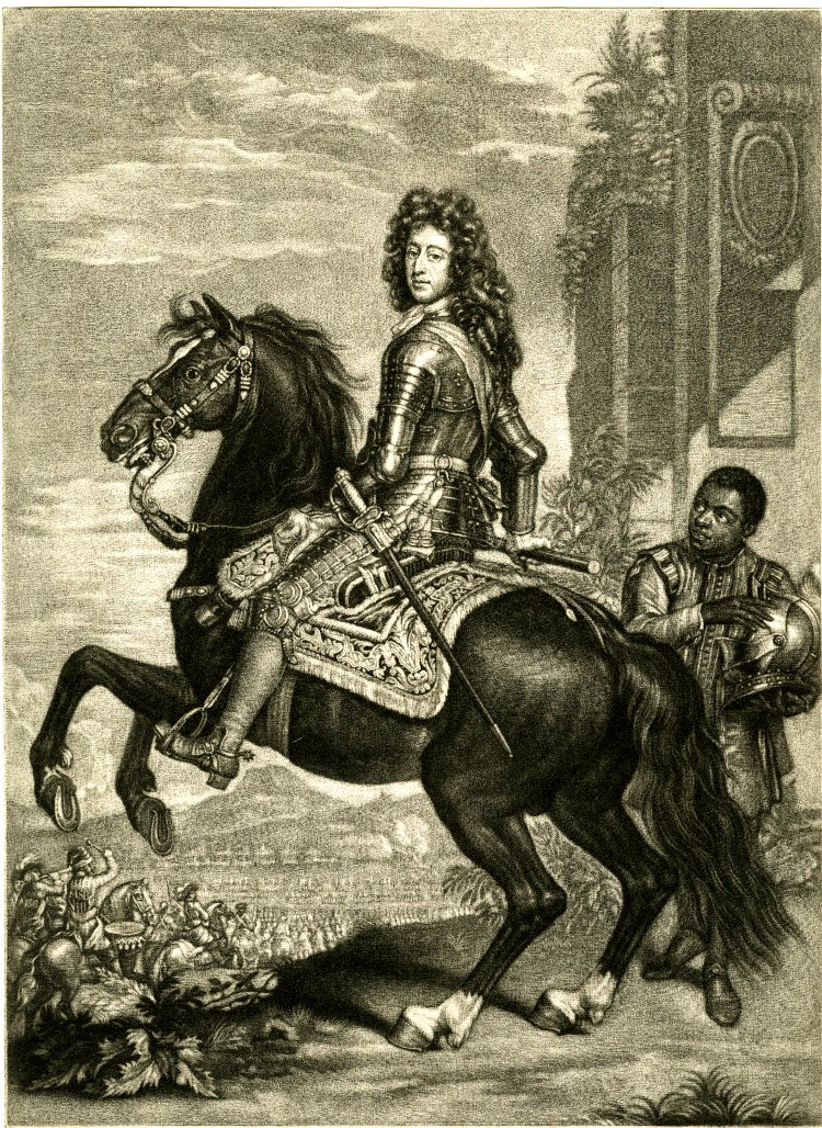 Equestrian portrait of William III, cr. 1689, John Smith after Sir Godfrey Kneller, England (?)