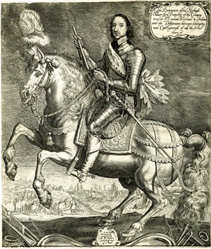 Portrait of Oliver Cromwell as Lord Protector, 1654-8, Willem van de Passe
