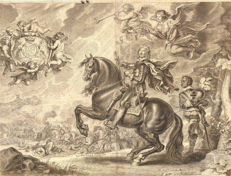 William Cavendish on horseback, illustration of the dressage manual, 1657, Abraham van Diepenbeeck, Netherlands