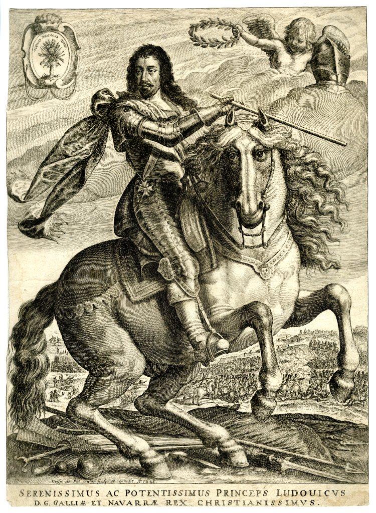 Equestrian portrait of Louis XIII, 1635, Crispijn de Passe the Elder