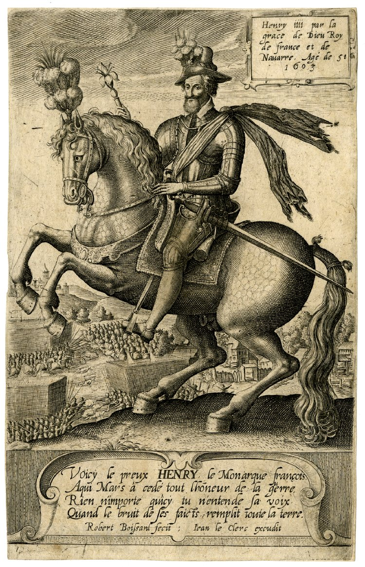 Henry IV by God's grace the king of France and Navarre aged 51 (1603),1585-1603, Robert Boissard, France