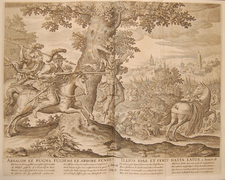 Death of Absalom, cr. 1652, Maarten de Vos and Johannes Wierix, Amsterdam, Netherlands