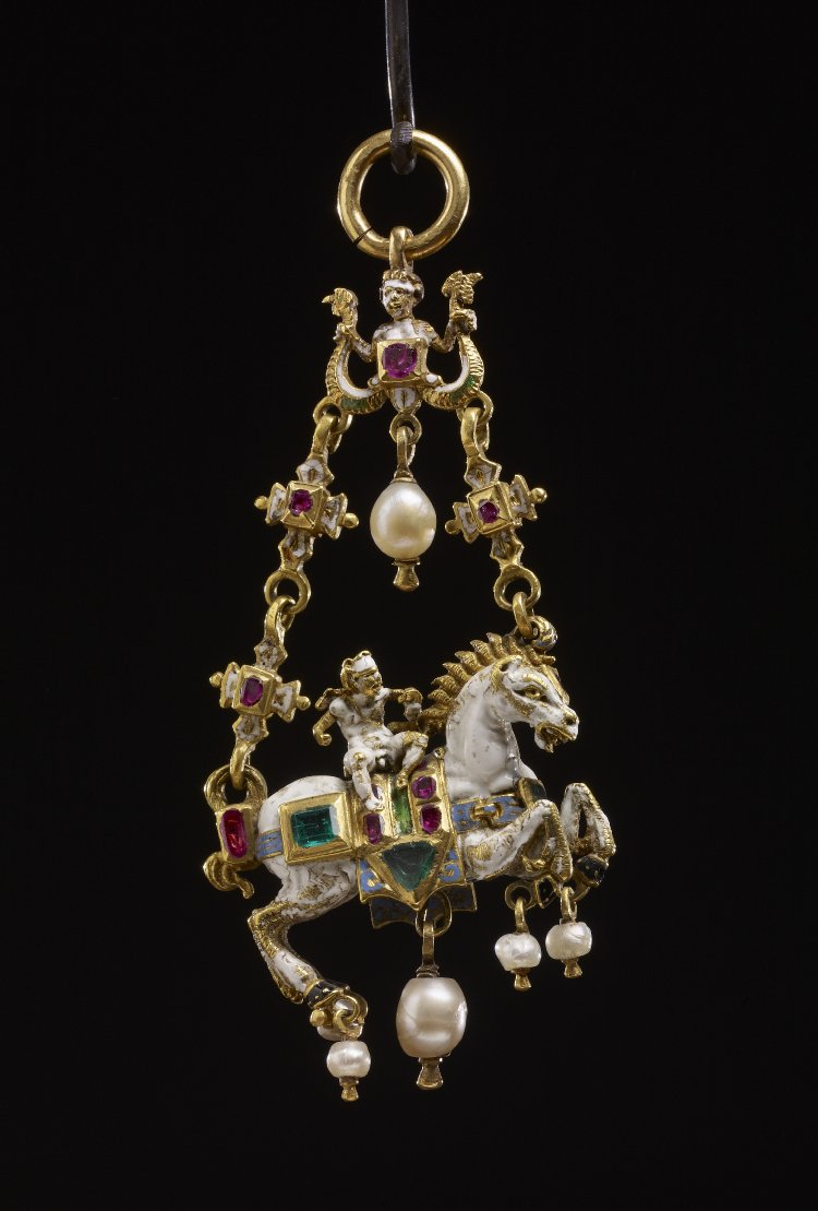 Pendant with a cupid riding a horse, 1550-1600, Germany (?)