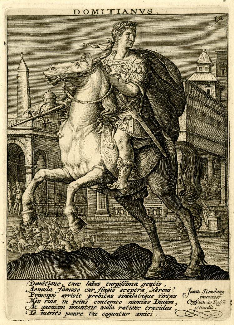 Portrait of Roman emperor Domitian, 1579-1637, Jan van der Straet, Italy and Frandres