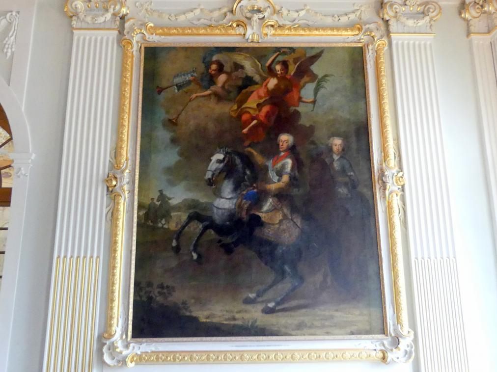 Elector Karl Albrecht later Charles VII on horseback, 1758, Georges Desmarées, Bavaria, Germany