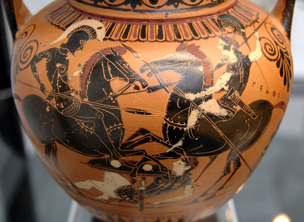 Amphora with Achilles and Penthesilea,cr. 520 BC, Vulci (Attic production ?)