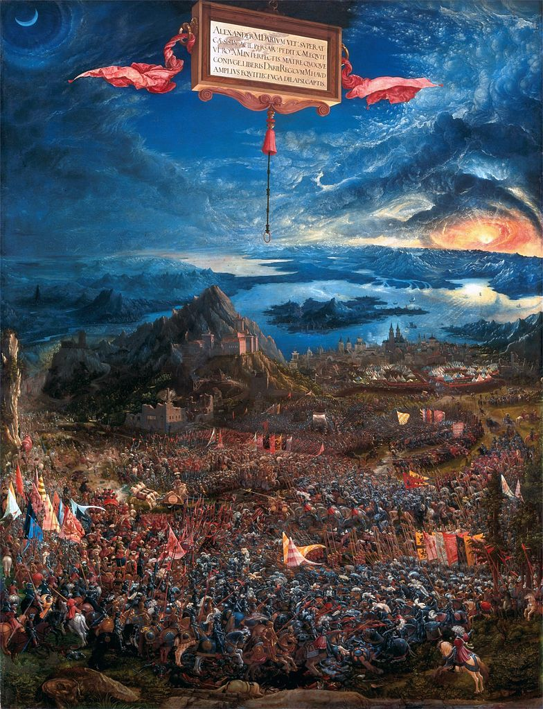 The Battle of Alexander at Issus, 1529, Albrecht Altdorfer, Bavaria, Germany