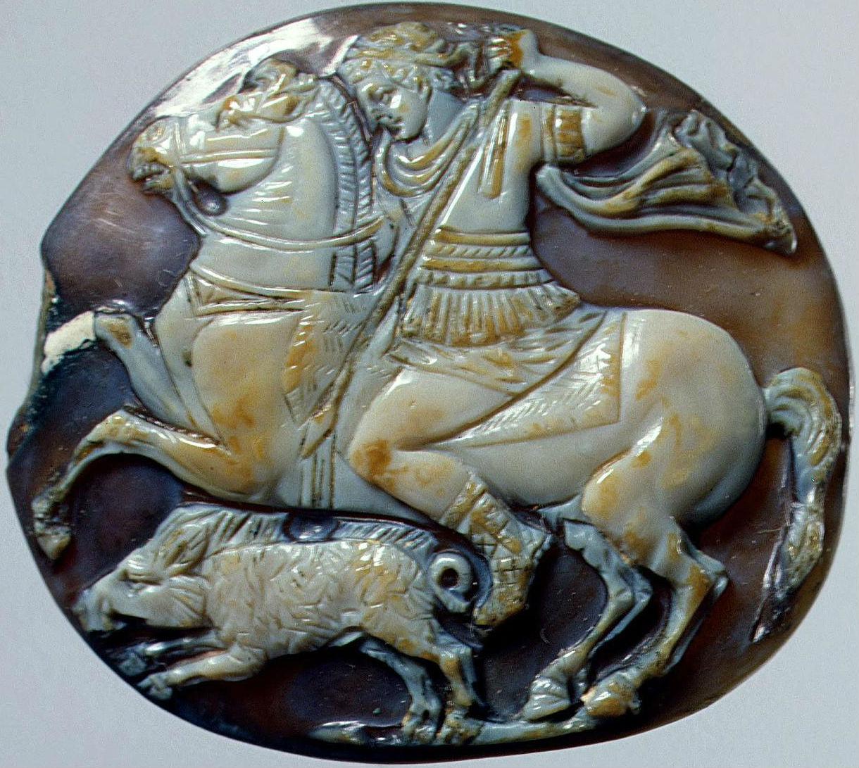 Alexander hunting boar, 1st century AD, Roman