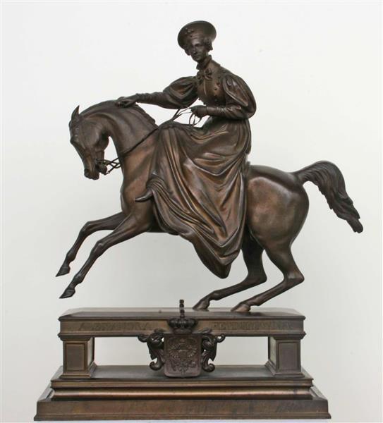 Empress Alexandra Feodorowna on Horseback,1836, Gustav Bläser