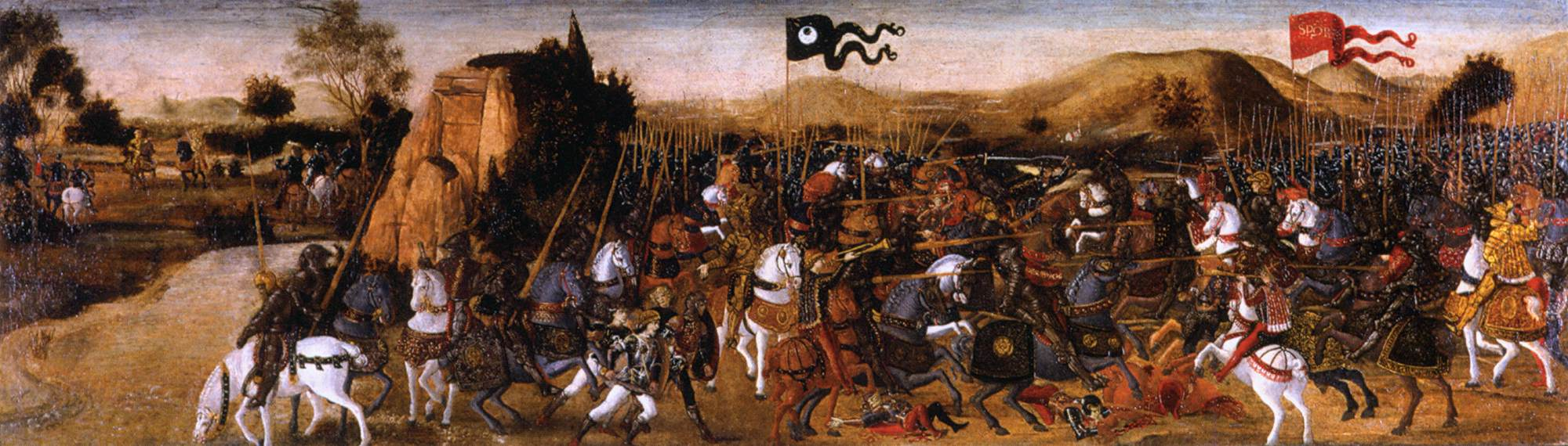 A cassone panel with the Battle of Pydna, cr. 1475, Andrea Verrocchio, Florence, Italy