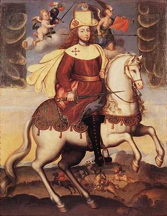 Portrait of Philip V as Saint James, 18th century, Bolivia