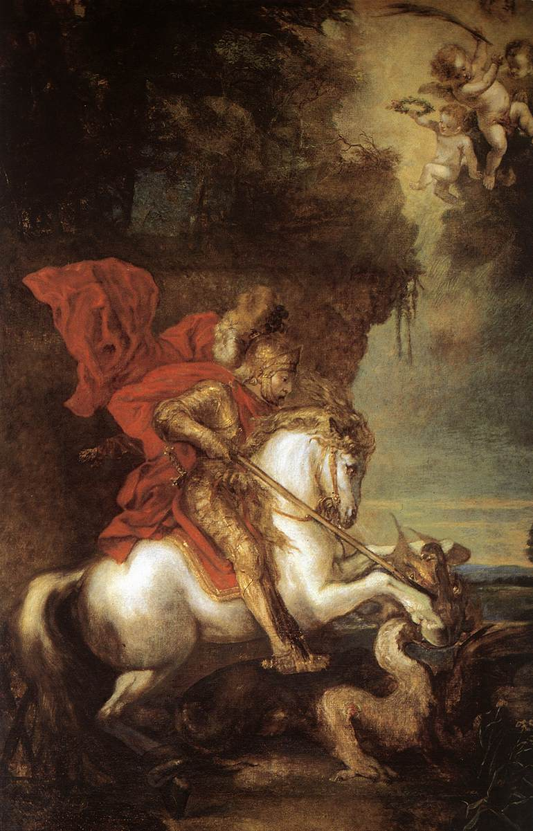 St George and the Dragon, before 1641, Anthony van Dyck