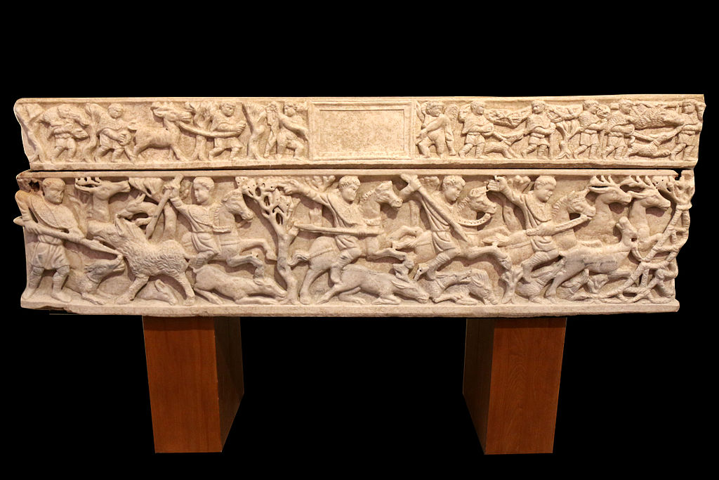 Sarcophagus with a hunting scene, 2nd quarter of the 4th century, Arles, France