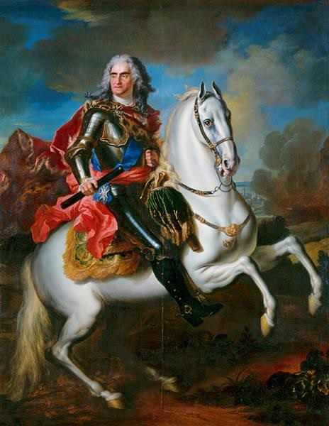 Equestrian portrait of August II the Strong, Louis de Silvestre, circa 1718