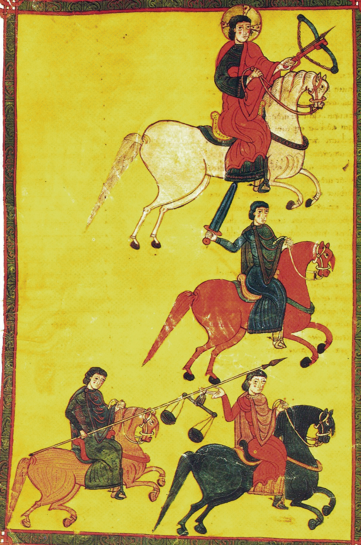 Four Horsemen of the Apocalypse, illustration of Burgo de Osma, 1086, Martinus, Castille-et-León, Spain