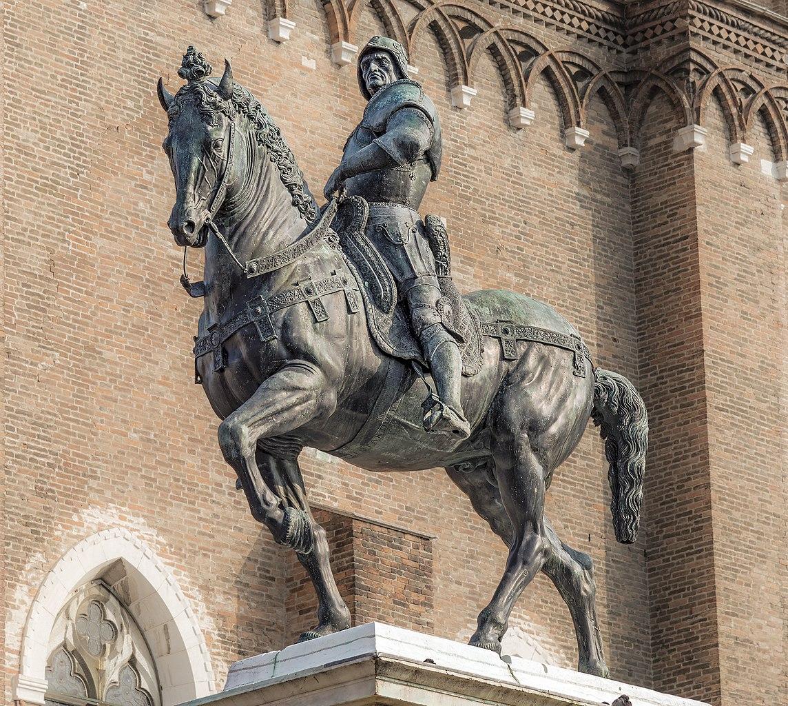 Equestrian statue of Bartolomeo Colleon, 1480–88, Andrea del Verrocchio, Venice, Italy