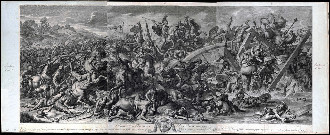 The Battle of the Milvian Bridge, 1666, Gérard Audran after Charles Le Brun, France