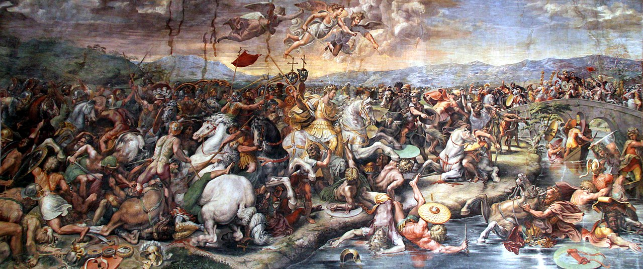 The Battle of the Milvian Bridge, 1520-4, Giulio Romano, designed by Raphael, Vatican, Italy