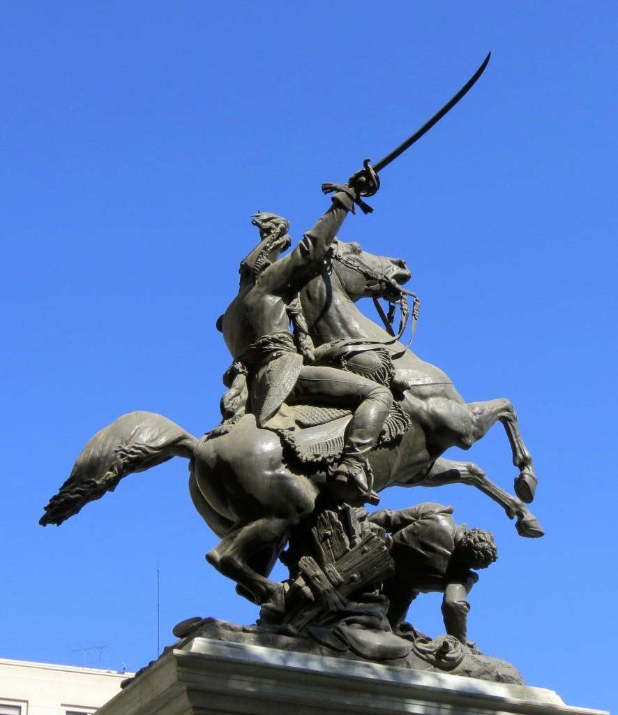 Equestrian statue of Bernardo O'Higgins, 1872, Albert-Ernest Carrier-Belleuse, Santiago de Chile, Chile