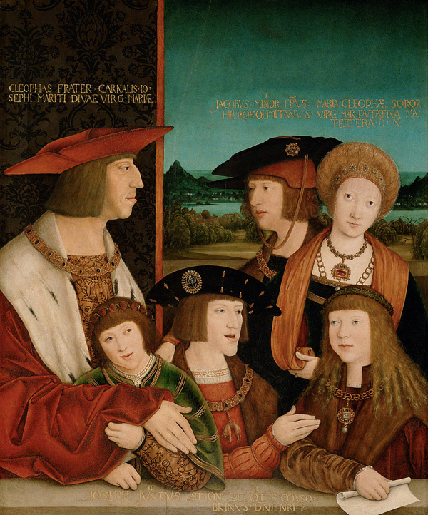 COMPARANDUM: Emperor Maximilian I with Mary of Burgundy, their son and grandsons, after 1515, Bernhard Strigel, Austria