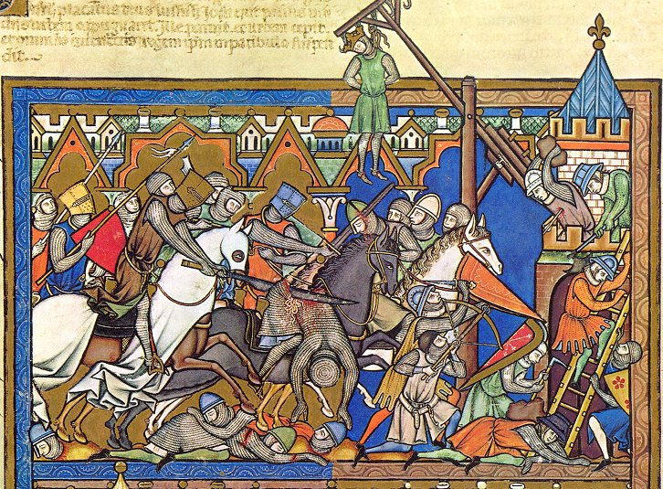 Illustration to Crusader Bible, mid-1240s, Paris, France