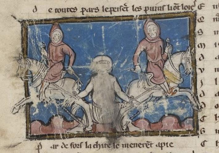 French novel illustration, 1275-90, Maître du Graal, North France