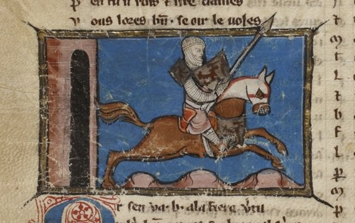 French novel illustration, 1275-90, Maître du Graal, North France