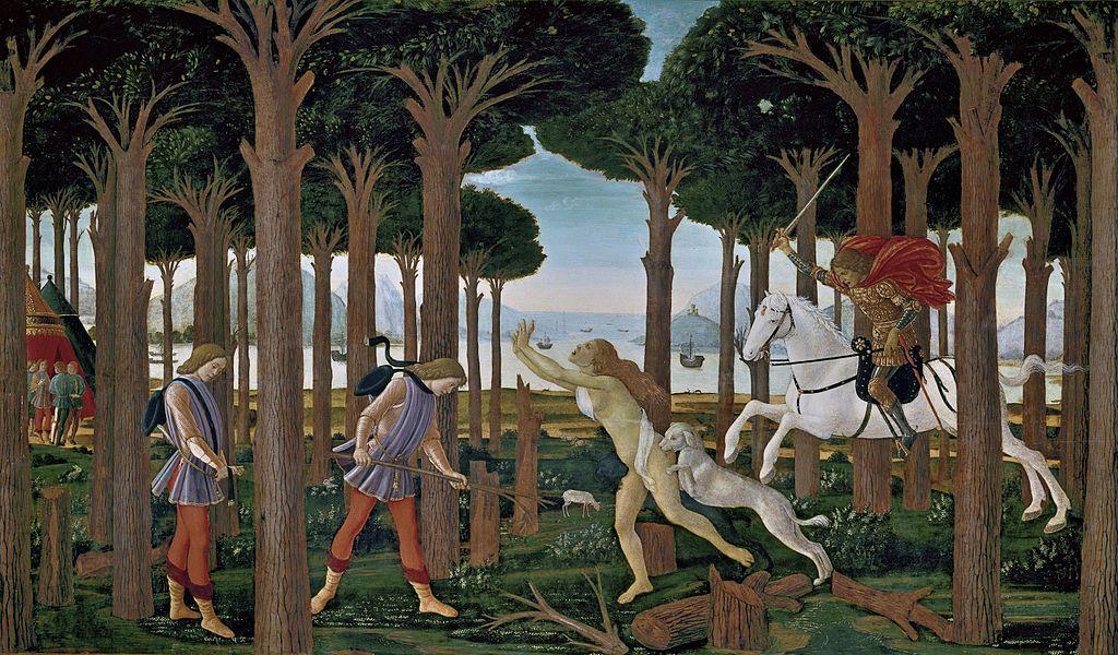 COMPARANDUM: The Story of Nastagio degli Onesti I, 1482-3, Sandro Botticelli, Florence, Italy
