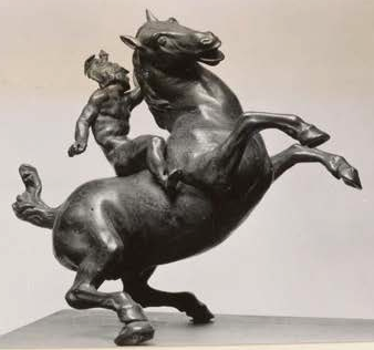 Rearing Horse and Mounted Warrior statuette, 1516-9, Leonardo da Vinci, France