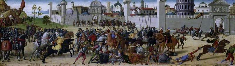 The Siege of Troy, the Death of Hector,1490-5, Biagio d'Antonio
