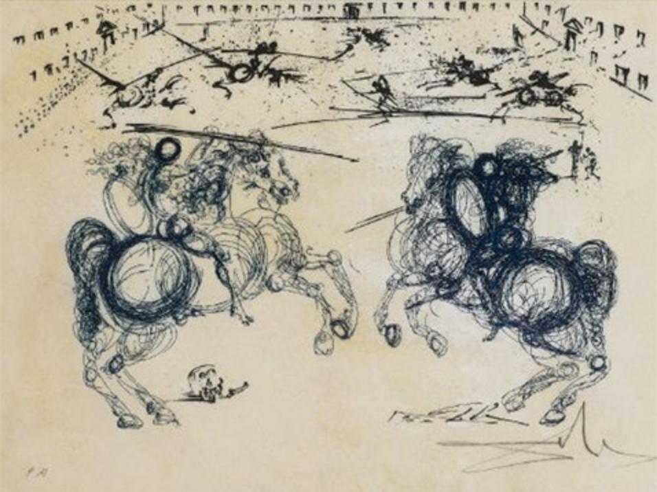 Los Caballeros, 1975, Salvador Dalí