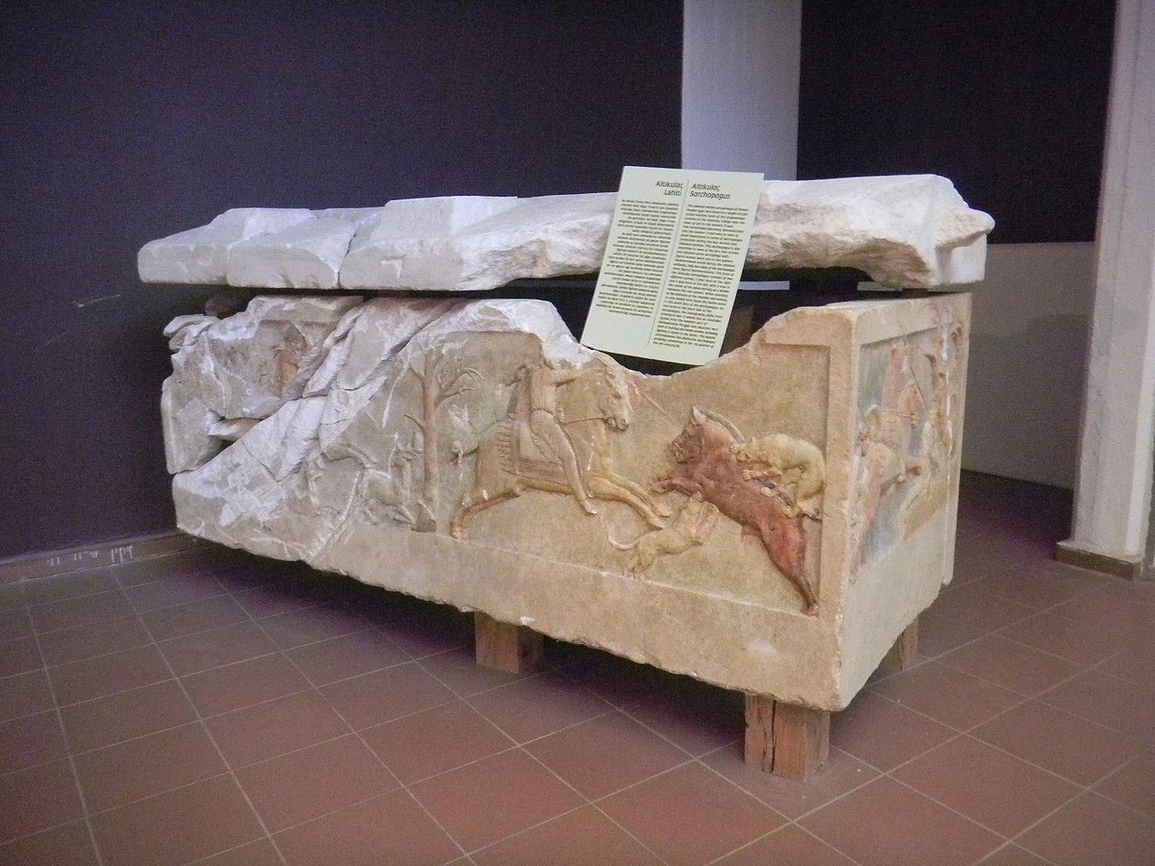 The Çan Sarcophagus, 400-375 BC, village of Altıkulaç, near Çan, modern-day Turkey