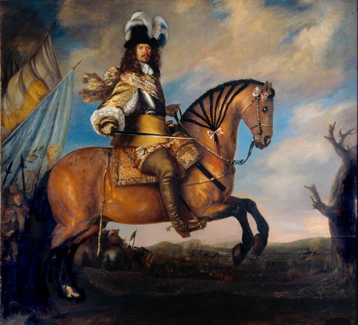Equestrian portrait of Carl Gustaf Wrangel, 1652, David Klöcker Ehrenstrahl